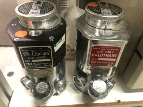 Ohio Halothane & Enflurane Vaporizer - With 2 place Vaporizer mounting bracket