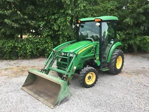 John Deere 3720 4x4 with cab & attachments