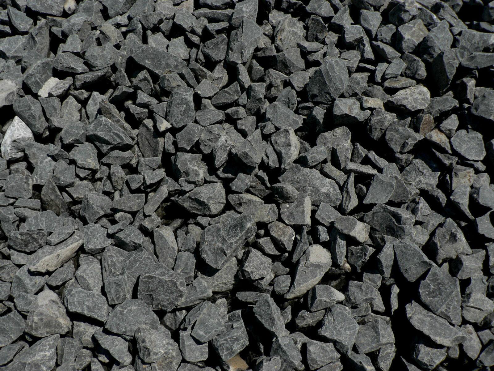 1000 kg basalt zierkies gartenkies splitt anthrazit. Black Bedroom Furniture Sets. Home Design Ideas