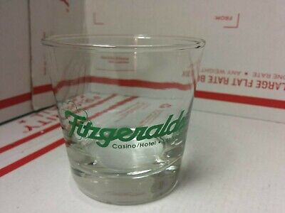 Vintage Cocktail Drink Glass Cup Fitzgerald's Casino Hotel Las Vegas Nevada READ