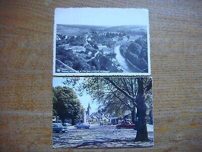 Lot de 2 cartes de COUVIN ( Panorama Vallée de l'Eau Noire / Place Piron )