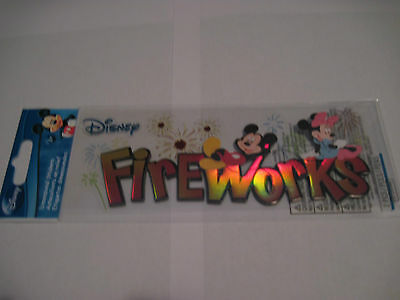 Mickey Scrapbooking Stickers - Scrapbooking Stickers Disney Mickey Mouse Minnie Fireworks Page Title More