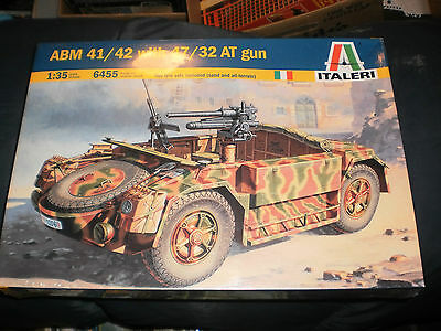 "ITALERI 1/35 ABM 41/42 WITH 47/32 AT GUN MODEL KIT 6455    WW2   ""B"""