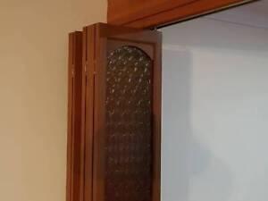 Doors, Bi-fold retro look Glass Infill/wood trim dining doors