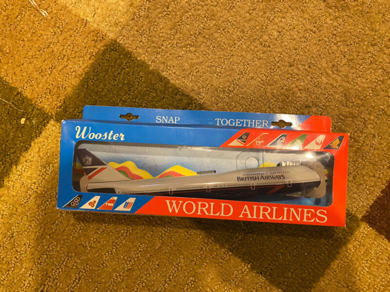 Wooster British Airways  747-400 #92 Plastic 1/200 Scale Plastic Model