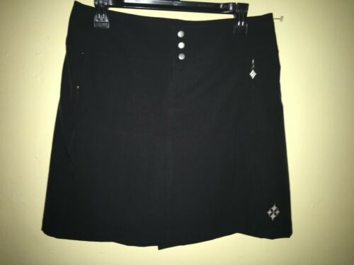 4 All By Jofit  Side Panel Woven Skort Golf  Tennis Size 6, Black New