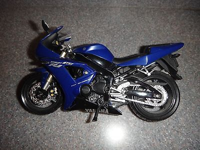 Used, YAMAHA YZF R1Racing Model Bike Motorcycle Blue Black/ ilver Sz  7in (L)x 4in (H) for sale  USA