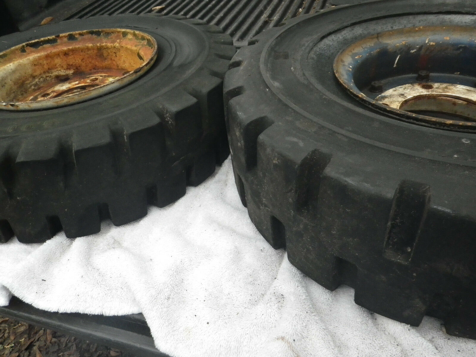 2 Fork Lift Tires with Rims ~ 5 Lug ~  6.00--9