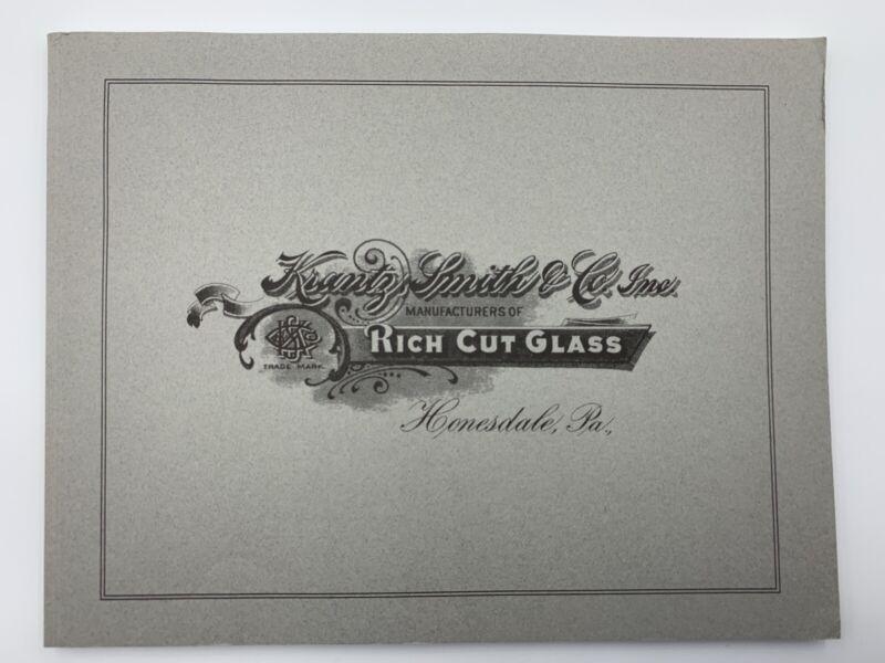Krantz Smith & Co. Cut Glass Catalog American Cut Glass Association Honesdale PA