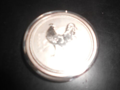 """2005 AUSTRALIAN LUNAR """"YEAR OF THE ROOSTER"""" 1 oz  SILVER COIN *BU* ~Series 1"""