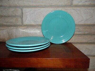 Fiesta 10.5 Dinner Plates in turquoise set of 4 NEW Fiestaware