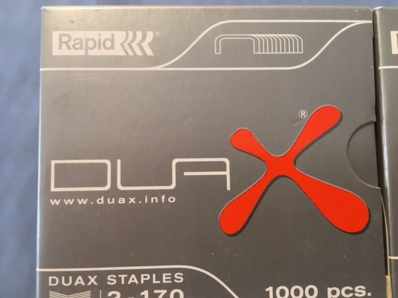 """10 NEW BOXES RAPID DUAX HEAVY-DUTY STAPLES  - 3/4""""  *FREE SHIPPING*"""