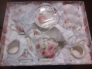 Fine Porcelain China Tea Set Rose