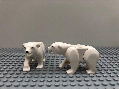 2 x LEGO WHITE POLAR BEAR FROM SET 60062 60036 MINIFIGURE ANIMAL BRAND NEW