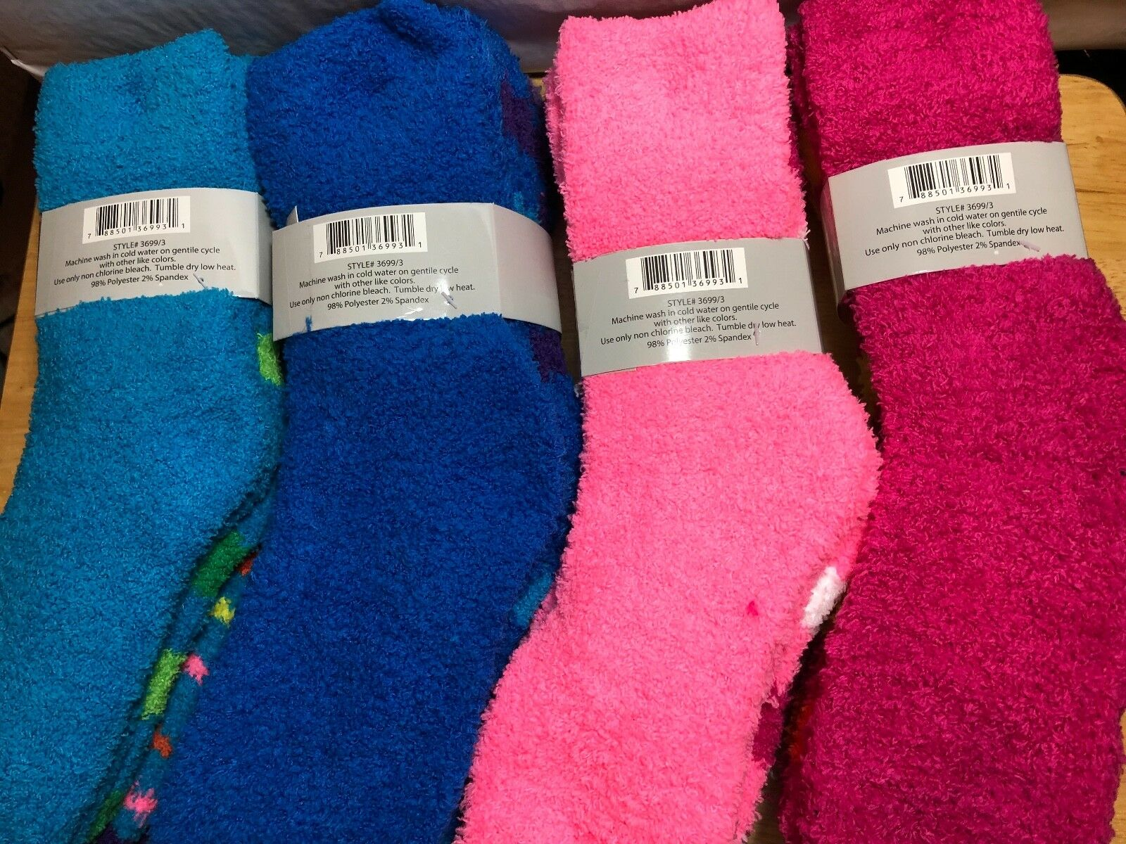 3 PAIRS PACK WOMEN COZY SOCKS SUPER SOFT 9-11 POLYESTER Clothing, Shoes & Accessories