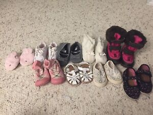 Baby girl shoes, boots, sandals, slippers $5 for them all