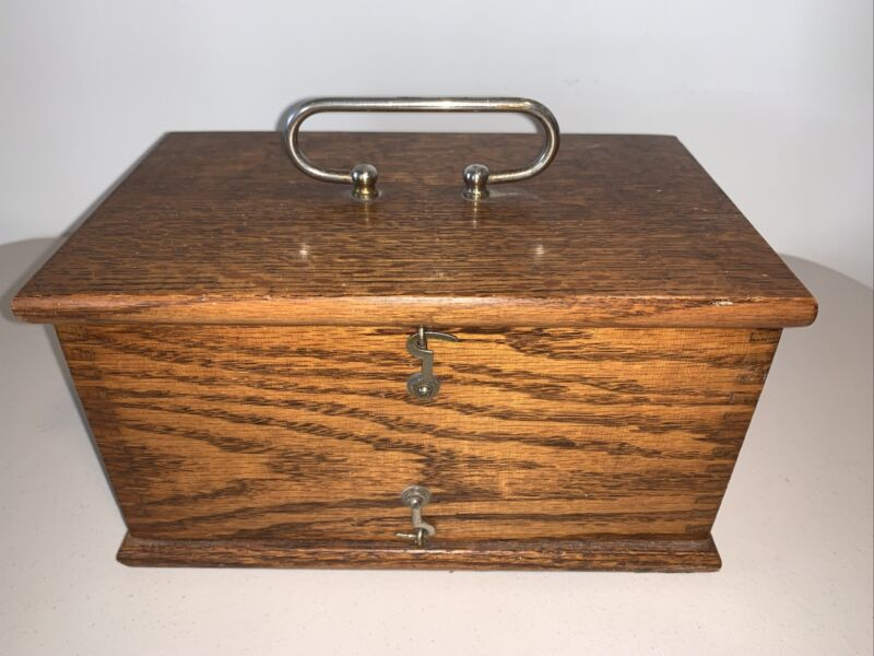ANTIQUE OAK BOX Once Held A Quack HOME MEDICAL APPARATUS Device