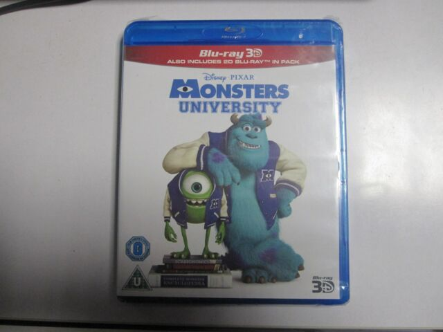 MONSTERS UNIVERSITY 3D BLU RAY + STANDARD BLU-RAY NEW SEALED