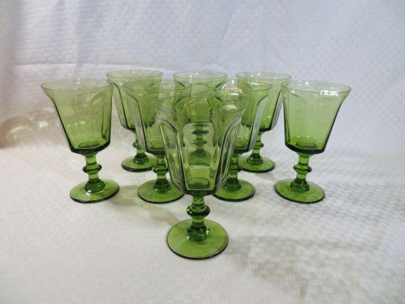LENOX 6-once Goblet - ANTIQUE pattern - light green color - Set of 8 goblets