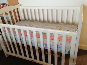 White Timber Cot