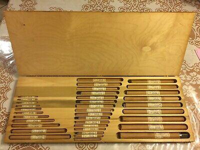 Alvord-polk Hand Reamer Full Sets Of 36 Straight Flute