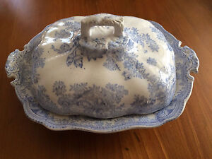 Blue & White  Asiatic Pheasants Vegetable Dish C  1893  - 1917 Gawler Gawler Area Preview
