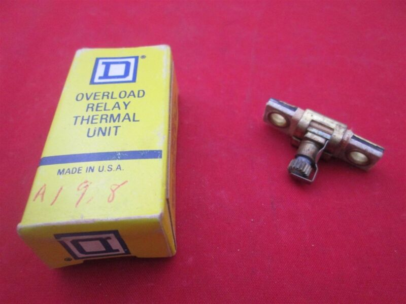 Square D Overload Relay Thermal Unit Heater A19.8 new