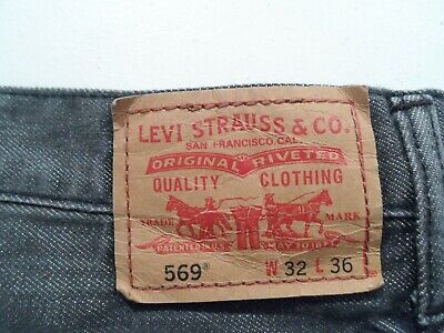 Levis 569 Men's Jeans Size 32x36 Gray Loose Straight Denim Red Tab 32 36