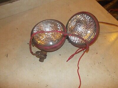 Farmall 460 560 Ih Tractor Working Nice Original 12v Front Head Lights Clamps
