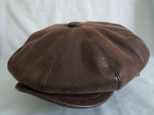 GENTS-8-PIECE-FAUX-LEATHER-NEWSBOY-BAKER-BOY-CAP-AKA-CABBY-CAP-PAPERBOY-HAT