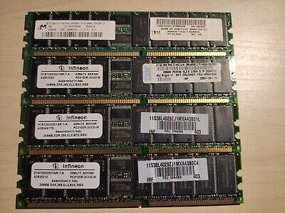 1 GB DE MEMORIA ECC DDR266 PARA SERVIDORES - 4 MÓDULOS DE 256Mb comprar usado  Enviando para Brazil