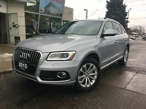 2015 Audi Q5 2.0T Progressiv, Nav, Cam, No Accidents!