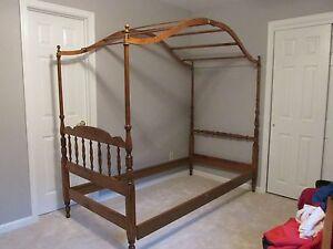ethan allen canopy twin bed frame ebay. Black Bedroom Furniture Sets. Home Design Ideas