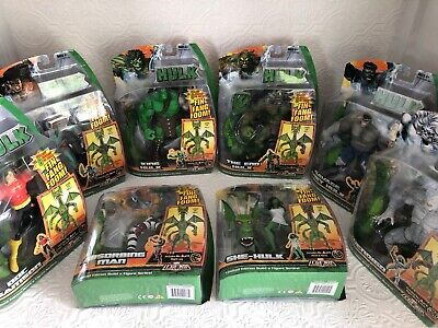 8 MARVEL LEGENDS FIN FANG FOOM BAF Wave 2008 MIB GRAY HULK END KING SKAAR SHE
