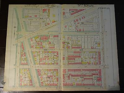 1892 Map of NW DC- Sursum Corda 'hood- Rare large property specific detail