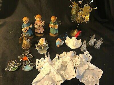 Tin Angel Ornaments - Vintage Christmas Ornaments (17) Angel Ornaments Stained Glass, Spun Glass, Tin