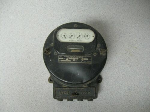 Vintage Westinghouse Watthour Meter Type OA 25 amp 100-200 Volt 60 Cycle 3 Wire