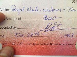 Regal nails - Walmart - New Sudbury