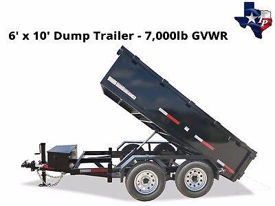 Brand New Texas Pride 6 X 10 Bumper Pull Dump Trailer 7k Gvwr