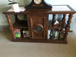Solid mahogany table or TV stand.