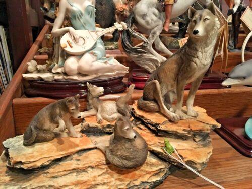 """DEAR """"Wolf Pack"""" Sculpture by A. Belcari"""