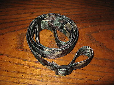 "52"" woodland camo rifle sling polyester 1"" wide adjustable nylon thick"