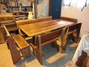 7 Piece Rustic Bush Timber Dining Setting. Seats up to 12 people Bundaberg Surrounds Preview