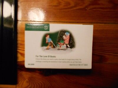 DEPT 56 CHRISTMAS IN THE CITY Accessory FOR THE LOVE OF BOOKS NIB