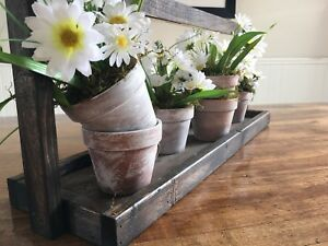 Floral Center piece with Wooden Carrier