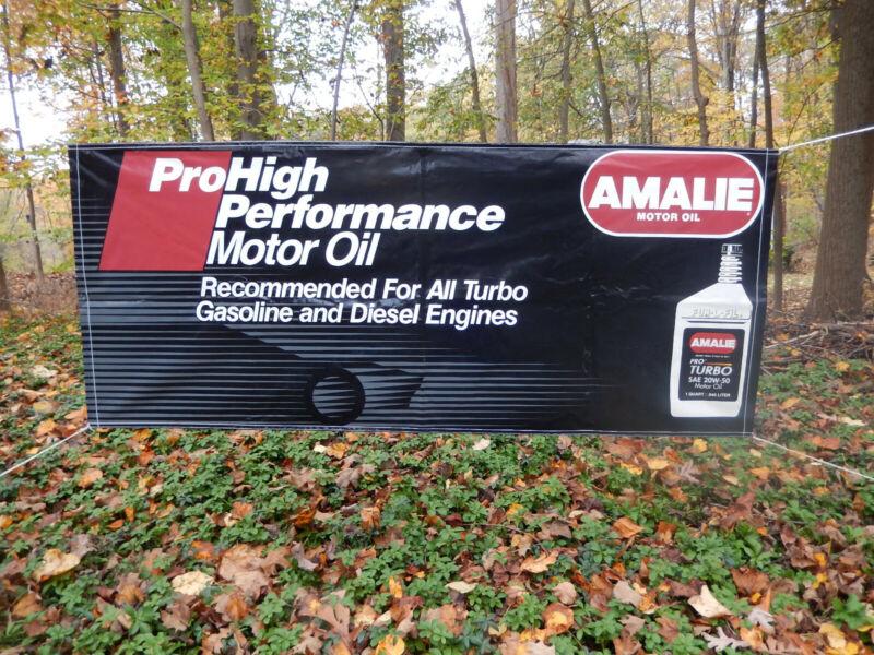 Vintage Amalie Motor Oil Banner - Authentic NOS - New