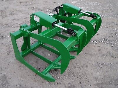 John Deere Tractor Loader 60 Dual Cylinder Root Grapple Bucket - 99 Ship