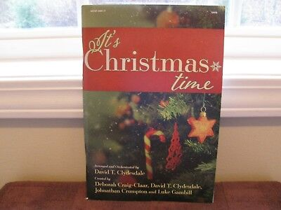 """It's Christmas Time Music Book For Choir /Orchestra SATB """"New Factory-Sealed"""""""