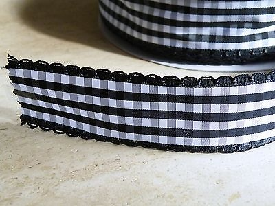 Black White Gingham Chequered checky Ribbon, Bows, 50s rockabilly, bows,