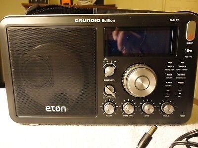 Eton Grundig Am Fm Shortwave Field Bt Radio With Alarm Clock  Rds   Brand New